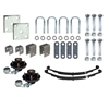 "Image - Trailer Axle Suspension Kit For 1-3/4"" Round Tube Axles (Includes 4 X 4 Hubs, 1"" X 1"" Bearings) (86544)"