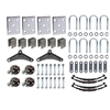 "Image - Trailer Axle Suspension Kit For 2-3/8"" Round Tube Axles (Tandem Axle, Includes Hubs)"