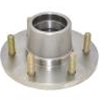 "Image - Trailer Hub, 1-3/4"" X 1-1/4"" Bearings, 6 X 5.5"" Bolt Pattern, Stainless Steel, Includes Races. Kodiak Brand."