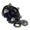 "Image - Trailer Hub, 1-3/8"" X 1-1/16"" Bearings, 5 X 4.5"" Bolt Pattern, Painted Finish, Pre-Greased"