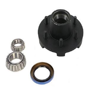"Image - Trailer Hub, 1-3/4"" X 1-1/4"" Bearings, 6 X 5.5"" Bolt Pattern, Painted Finish, Pre-Greased"