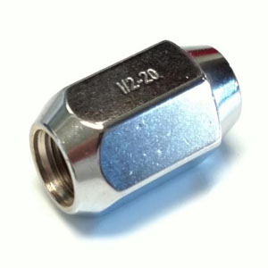 "Image - Lug Nut 1/2-20 Chrome Short Lr 13/16"" Socket Size"
