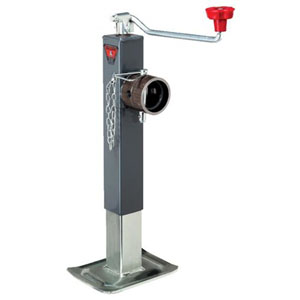 Trailer Jack 8,000# Square Topwind With Swivel Mount, Bulldog