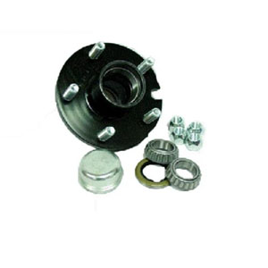 "Image - Trailer Hub, 1-1/4"" X 3/4"" Bearings, 5 X 4.5"" Bolt Pattern, Includes: Bearings, Races, Dust Cap, Seal, And Lug Nuts (New Ufp # 008-A11-90)"