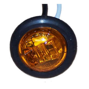 "Image - Light, Clearance, Amber Bullet, 1"" Rnd Led, Recessed W/Grommet"