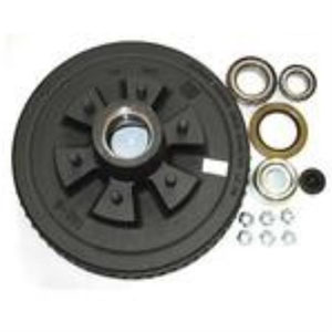 "Image - Dexter 12"" Brake Drum, 6 X 5.5"" Bolt Pattern, Includes Loose Bearings And Seal. Fits Hydraulic Or Electric Brakes"