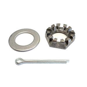 "Image - Spindle Nut Kit 1"" Castle Nut & Washer (81169)"