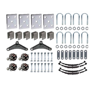 "Image - Trailer Axle Suspension Kit For 2-3/8"" Round Tube Axles (Tandem Axle, Includes 1-3/8"" X 1-1/16"" Hubs) (86547)"