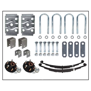 "Image - Trailer Axle Suspension Kit For 3"" Round Tube Axles 6K (Includes 6 X 5.5 Hubs 1-3/4"" X 1-1/4"" )"