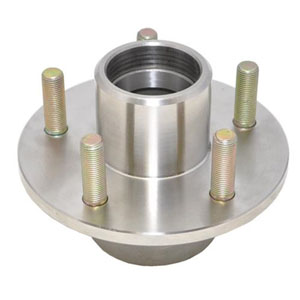"Image - Trailer Hub Stainless Steel, 1-3/8"" X 1-1/16"" Bearings, , 5 X 4.5"" Bolt Pattern, , Includes Races. Kodiak Brand."