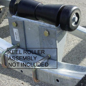"Image - Keel Roller Riser Kit, Adds 3"" Height (Mounts To Cross Member)"