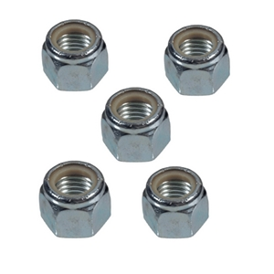 "Image - 3/8""-24 Nylock Nut Five-Piece Kit (For 3"" Round Axle Brake Flange Studs)"