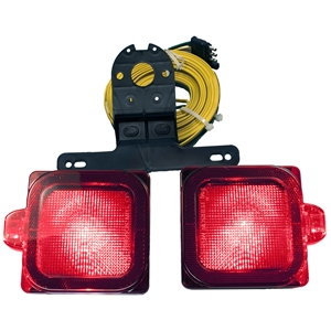 "Image - Tail Light Kit, Square, Submersible, And Led. Approved For Trailers Over 80"", Peterson"