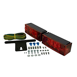 "Image - Tail Light Kit, Rectangular ""Low Profile"", Submersible, And Led. Approved For All Trailer Widths. Blazer Brand."